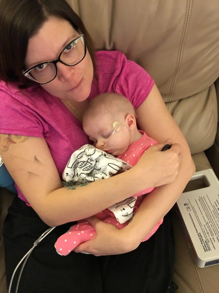 Sleeping on Mom