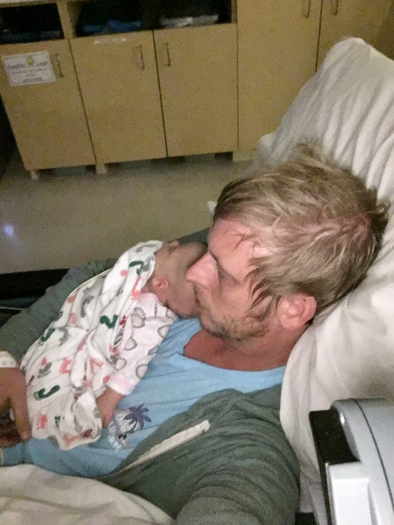 Asleep with Dad